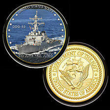 USS John Paul Jones (DDG-53) GP Challenge pinted Coin