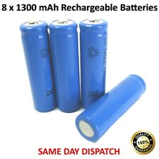 NEW 8 x Rechargeable 1300 mAh Batteries LC 14500 3.7V Powerful Li-Ion Battery UK