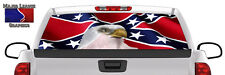 Riveted Flag w/ Eagle Wavy BACK Window Graphic Perforated Film Decal Truck SUV