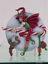 Beautiful Candy Cane Witch Wall Plaque Figurine by Brigid Ashwood Xmas Statue
