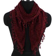 Fashion Triangle Scarf Floral Scarf Lace Fringed Womens Scarf Ladies Scarf Shawl