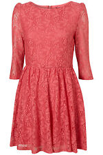 New TOPSHOP lace flippy dress UK 10 in Pink