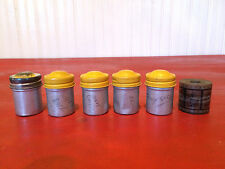 Vintage Navy Quiz & Instructional Film Strips in Metal Canisters