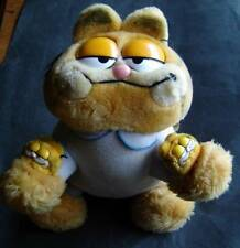 Garfield the Cat Stuffed Plush with Blue Pajamas and Garfield Slippers by Dakin