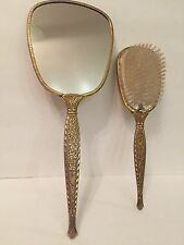 Vintage Mirror and Brush Set