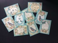 Vintage Butterfly & Rose Postcards Tags/Card Toppers/Scrapbooking