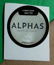 ALPHAS SUPER BUT HUMAN SYFY TITLE COMING SOON  TV GET GLUE STICKER