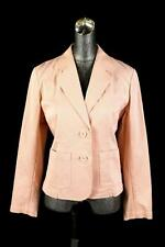 womens pink striped TALBOTS blazer jacket casual stretch cotton M 8 PETITE 8P