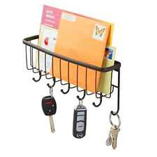 Wall Mount Letter Key Mail Rack Storage Organizer Holder Hanger Hook Steel NEW