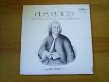 BACH 3 sonatas for viola da gamba & haepsichord US LP WESTMINSTER PAUL DOKTOR