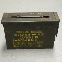 MILITARY ARMY ISSUED 30 CAL AMMO BOX SMALL METAL STORAGE CONTAINER TOOL BOX