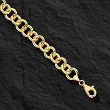 14kt Yellow Gold Round Rolo Charm Bracelet 7.25 Inch 6.2grams