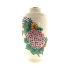 """Hydrangea Porcelain Miniature Vase Hand Painted 2x4"""""""