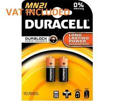 2 X Duracell Mn21 A23 12v Batería 23a lrv08 k23a E23a