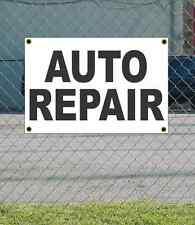 2x3 AUTO REPAIR Black & White Banner Sign NEW Discount Size & Price FREE SHIP