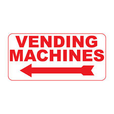 Vending Machines Retro Vintage Style Metal Sign - 8 In X 12 In With Holes