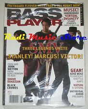 BASS PLAYER Magazine SEALED Ago 2008 Stanley Marcus Victor Black Crowes NO cd