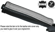 BLACK & GREY LEATHER EMERGENCY E BRAKE HANDLE COVER FITS CAMARO FIREBIRD 93-02