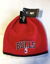 Chicago Bulls Knit Beanie Toque Skull Cap Winter Hat NEW NBA Wordmark Reversible