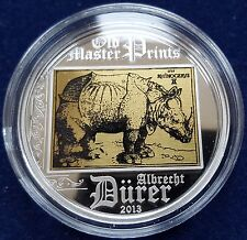 "MDS Cook Islands 5 dollaro 2013 ""rhinocerus-Albrecht Dürer"", Argento"