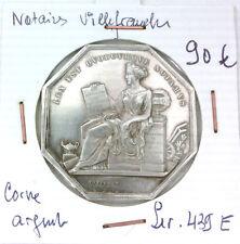JETON NOTAIRES - VILLEFRANCHE - POINÇON CORNE ARGENT - LEROUGE 439 E