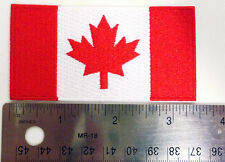 Canada Flag iron on patch, Various sizes,  backpackers, travellers, military