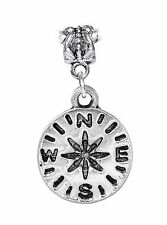 Compass Camping Hiking Outdoor Adventure Travel Dangle Bead for Charm Bracelet