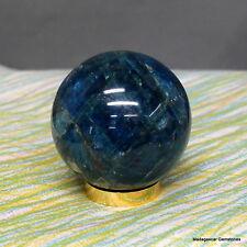 1.77 Fantastic Blue APATITE CRYSTAL BAII Polished Stones from Madagascar Apt24
