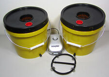 2 Gallon Dual Deep Water Culture Yellow Jacket Grow Bucket Hydroponic System