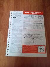 FICHE TECHNIQUE AUTOMOBILE RTA FIAT 850 SPORT COUPE (CL A)