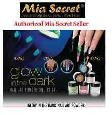 12 pcs Mia Secret Nail Art Powder Collection  Glow in the Dark 0.25 Oz