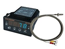 12V DC 1/32DIN Digital PID Temperature Controller, Blue with K thermocouple