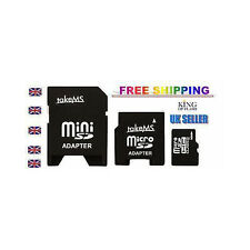 TAKEMS 8GB MICRO SD HC CLASS 6 & MINI SD & SD ADAPTER