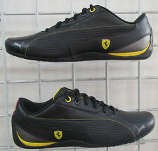 Men's Puma Ferrari Drift Cat 5 NM, New Black Yellow Sport Walking Shoes Sz 9