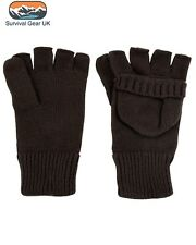 Kombat Hunters Mitts Gloves Shooting Fishing Thermal BLACK (L) - FREE DELIVERY