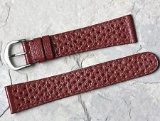 Chestnut brown perforated 20mm vintage watch rally band NOS 1960s/70s old stock