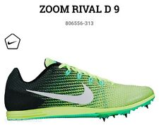 NIB NIKE Zoom Rival D 9 Distance Running Shoes Spikes Ghost Green 11