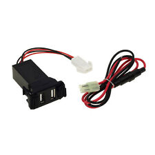 2.1A Durable Car Dual Usb Socket Phone Charger + Audio Input For Suzuki