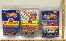 Hot Wheels Chuck E Cheese Custom Van + 20 Anniversary Race Car + Kraft C.Rex NOC