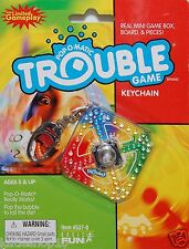 Hasbro Pop-O-Matic Trouble Mini Board Game Box Key Lobster Ring Chain Mascot
