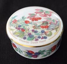 Vintage COVERSWALL Bone China England COUNTRY DIARY COLLECTION Round Trinket Box