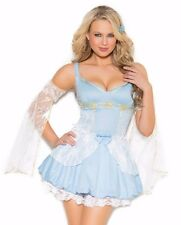 Sexy Cinderella Costume XL Women Halloween Disney Princess Blue Gown Dress Adult