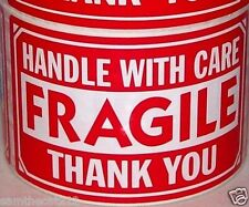 50 3x5 FRAGILE HANDLE WITH CARE LABEL STICKER
