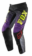 New Fox Racing Womens Juniors 180 Pants MX Motocross Purple Black 7/8