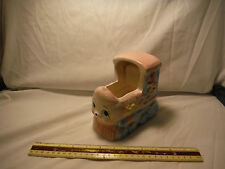 """Vintage New-Born Baby Train Planter 1960's """"Rock-A-Bye Baby"""" Music Box"""