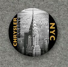NYC Chrysler Building - Large Button Badge - 58mm diam