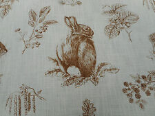 Sanderson Curtain Fabric 'Squirrel & Hedgehog' 3 METRES Henna/Wheat  Linen Mix