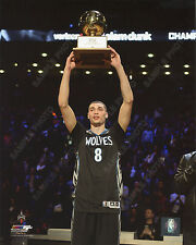 Zach Lavine NBA Slam Dunk Contest Trophy 2016 All-Star Game 8x10 Unsigned Photo