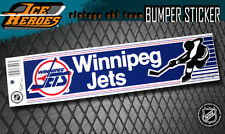 WINNIPEG JETS Vintage Bumper Sticker - Unused - NOS - NM