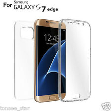 TPU Crystal Clear Cover Full body Protective sleeve for Samsung Galaxy S7 Edge